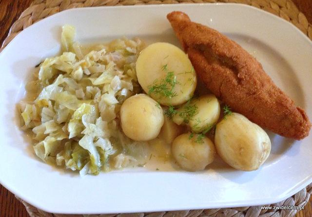 Kraków - Jadło u Bociana - de volaille z ziemniakami i młodą kapusta