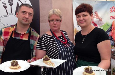 Kraków - Małopolski Festiwal Smaku - danie przygotowane przez blogerów