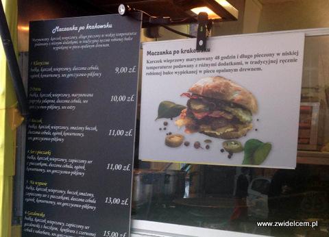 Kraków - Andrus Food Truck - Menu