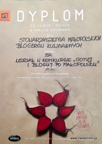 Kraków - Małopolski Festiwal Smaku - Finał - dyplom