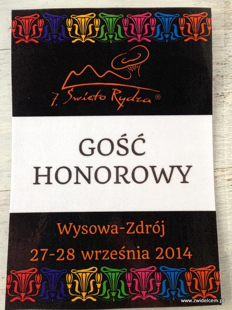 Wysowa - Święto Rydza - identyfikator