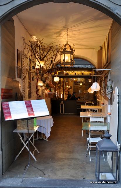 Bergamo - restauracja przy via Colleoni