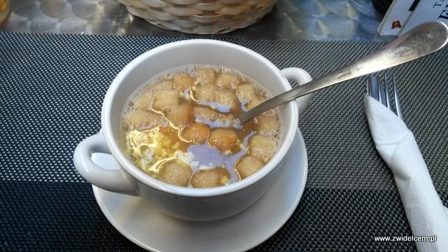Hiszpania - Granada - EL Taller- sopa de jamod de Jerez con huevo