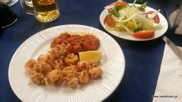 Hiszpania - Alicante - El Buen Comer - kalmary z sałatką