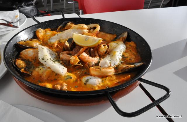 Hiszpania - Gibralar - Dolphins Bar - ryby i owoce morza