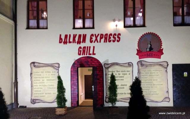 Kraków - Balkan Express Grill - wejście