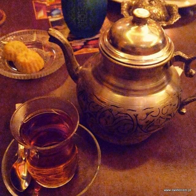 Kraków - Hammam Szeherezada - Hammam Shahrazad - herbata z maramią
