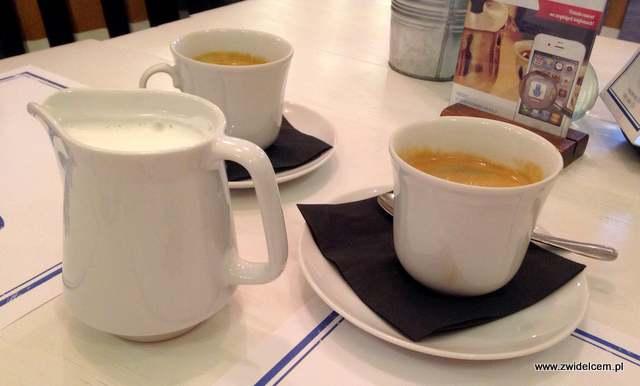 Kamsa - Kraków - śniadanie jerozolimskie - kawa z mlekiem