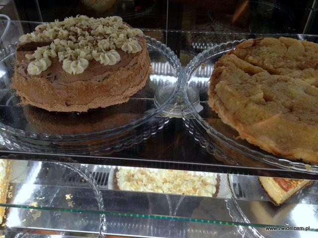 Kraków - La Grande Mamma - ciasta w witrynie Graner