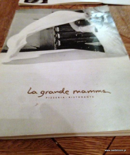 Kraków - La Grande Mamma - menu