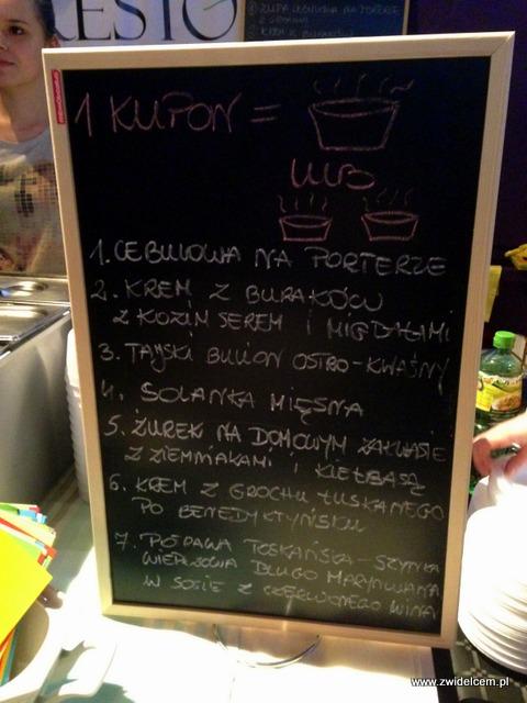 Foodstock Zupa - Presto - menu