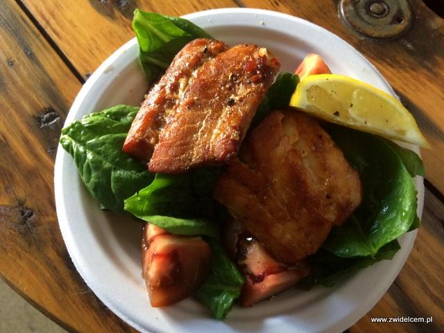 Foodstock Zupa - The Dorsz British Fish & Chips - pieczony dorsz ze szpinakiem - dorsz