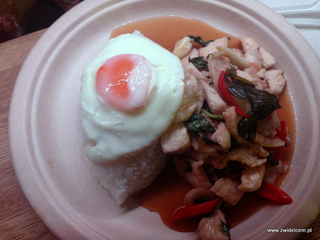 Kraków - Big Mango - Zwierzyniecka - Smażony kurczak ze słodką tajską bazylią i jajkiem sadzonym