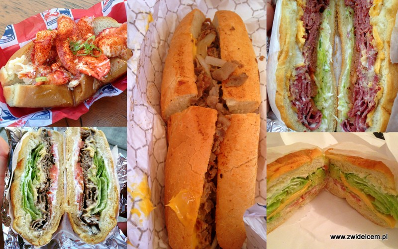 Kanapki - USA - Stany Zjednoczone - Philly Cheese Steak - Reuben - Homar - Lobster