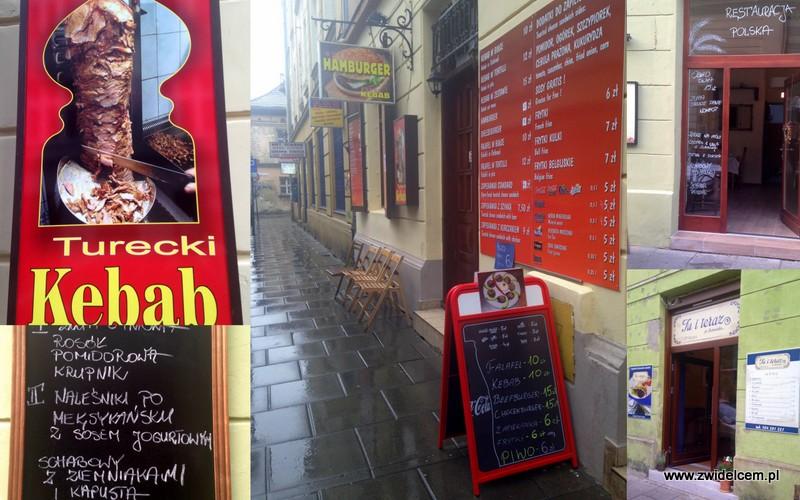 Kraków - Kazimierz - Meiselsa - Kebab - Restauracja Polska - Tu i teraz