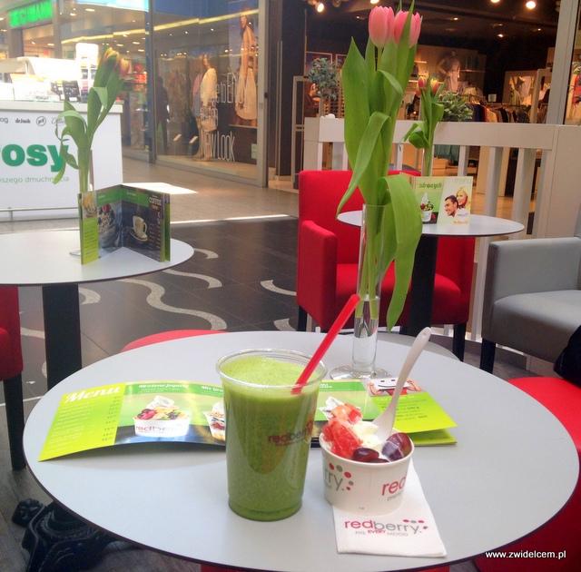 Kraków - RedBerry - sok gruszkowo-szpinakowy i mrożony jogurt