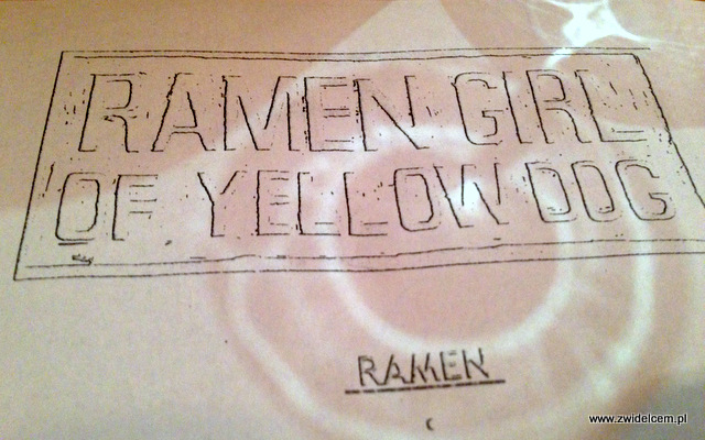 Kraków - Ramen Girl of Yelow Dog - logo
