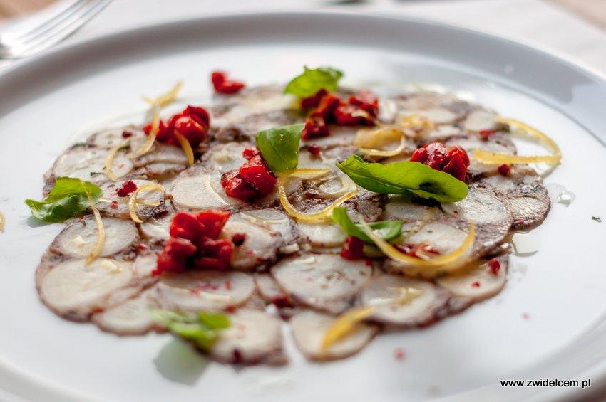 Kraków - Włoska Pizzeria & Ristorante - carpaccio z ośmiornicy