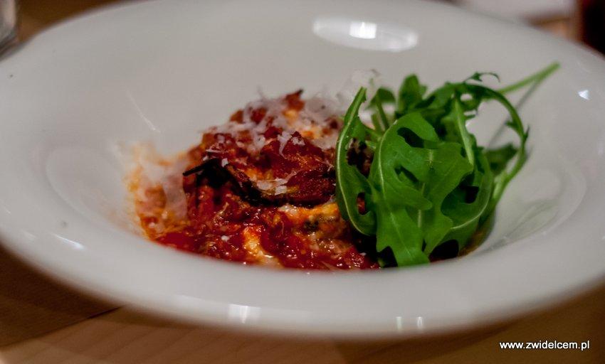 Kraków - Nolio - Bakłażan - mozzarella di bufala Campana D.O.P. -pomidory San Marzano D.O.P. - Parmiggiano-Reggiano - rukola - oliwa