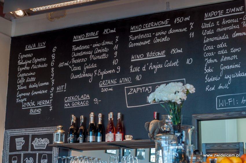 Kraków - Boulevard 11 - menu