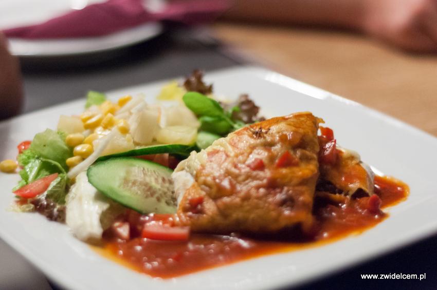 Kraków - Malecon - Enchilada ropa vieja-tortilla z duszoną wołowiną,