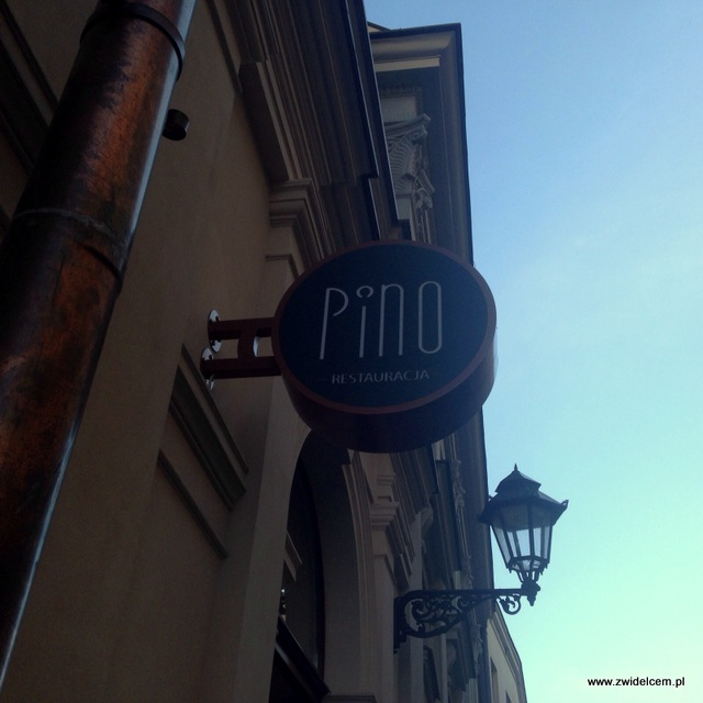 Kraków - Pino - szyld