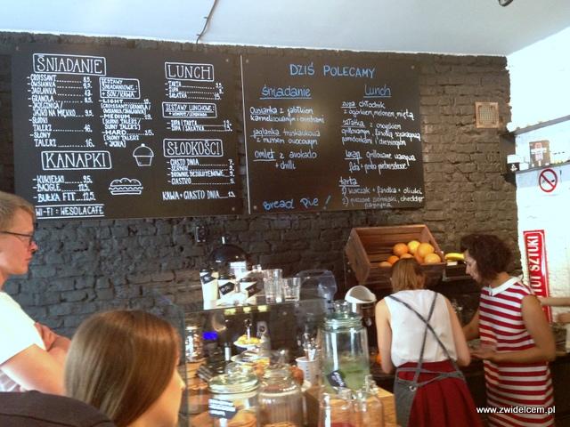 Kraków - Wesoła Cafe - menu