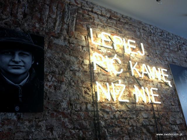 Kraków - Wesoła Cafe - ściana