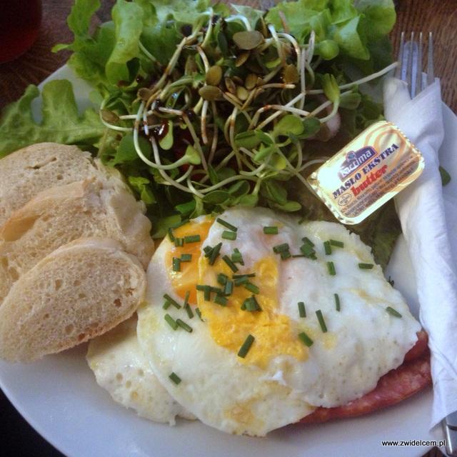 Kraków - Wesoła Cafe - Jaja na frankfurterkach