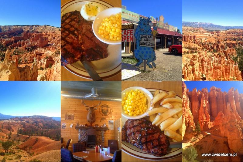 USA - Stany Zjednoczone - Bryce Canyon - Hatch Station - steak - stek