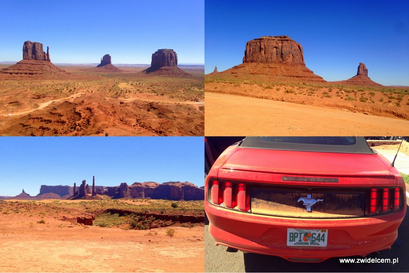USA - Stany Zjednoczone - Monument Valley - Ford Mustang