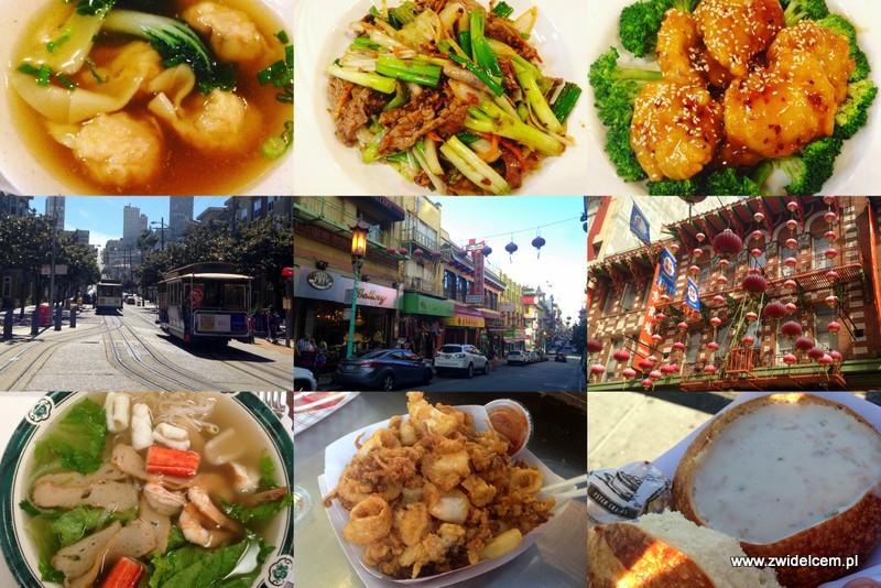 Stany Zjednoczone - USA - San Francisco - chińska dzielnica - Chinese district - tramwaj - cable car - clam chowder