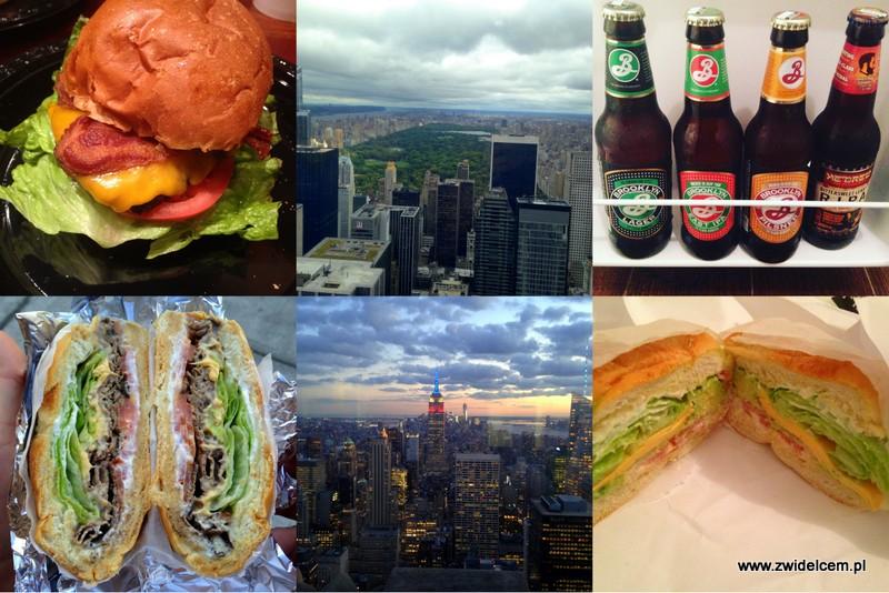 USA - Stany Zjednoczone - Nowy Jork - NYC - Top of the rock - Tri Tip Grill - piwo - kanapka