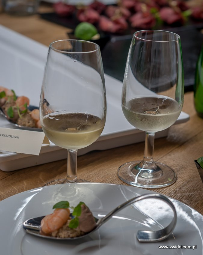 Kraków – Enoteka Pergamin – Kobiety i Wino – degustacja- Toro Albalá Electrico Fino de Lager - krewetki