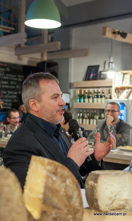 Krakó Slow Wines - Lipowa 6f - Degustacja win włoskich - Jacek Szklarek - sery