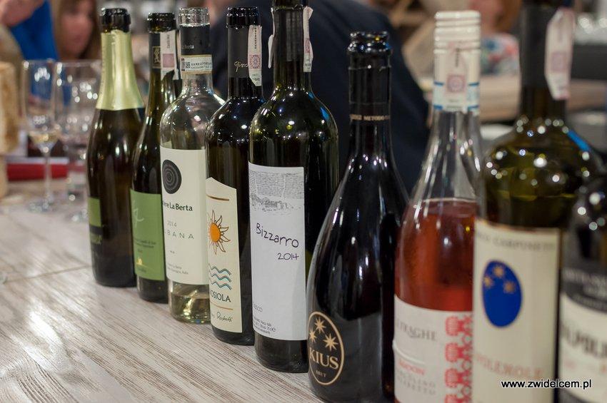 Krakó Slow Wines - Lipowa 6f - Degustacja win włoskich - butelki