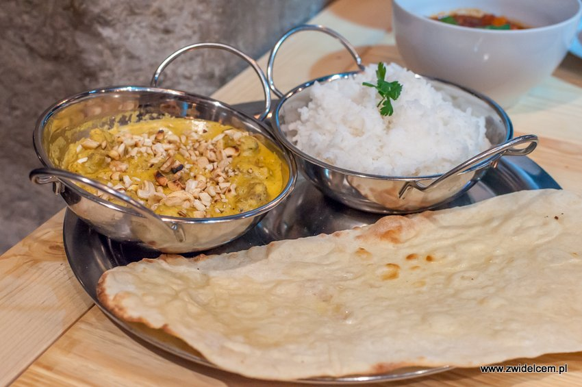 Kraków - Hurry Curry - Kashmiri lamb kofta -naan