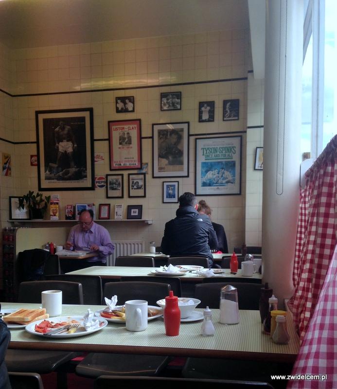 Londyn - Regency Cafe - konsumpcja