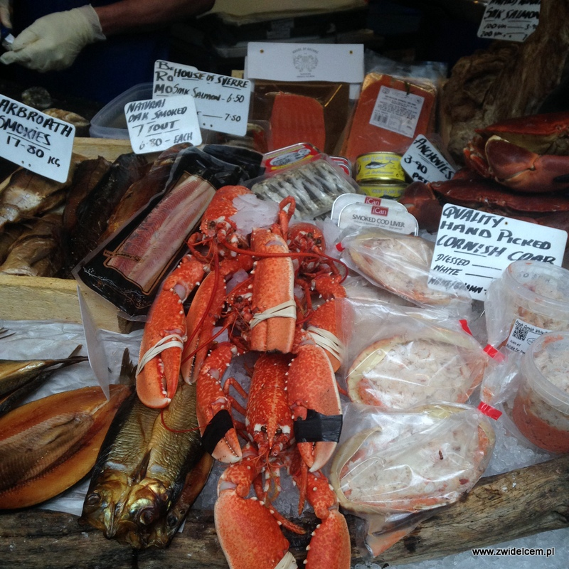 Londyn - Borough Market-owoce morza