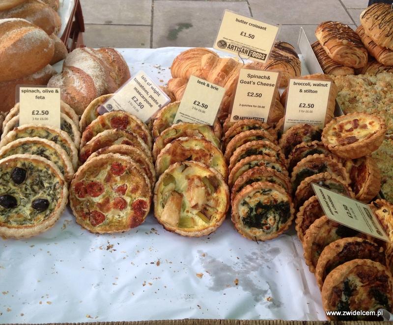 Londyn - Pimlico Market - quiche
