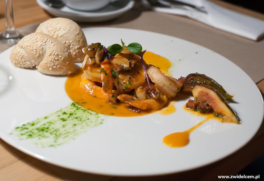 Kraków - Restauracja STóŁ -KREWETKI Chorizo / pietruszka / figa