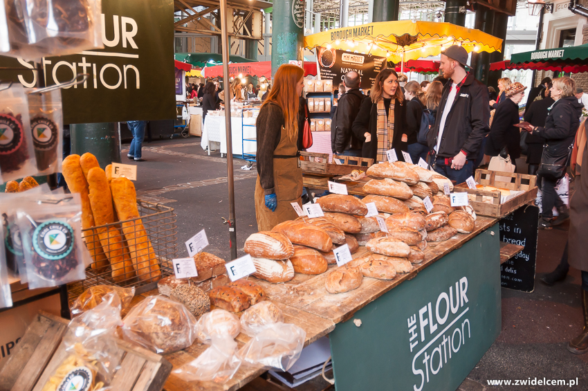 Londyn - London - Borough Market -The Flour STation - chleb