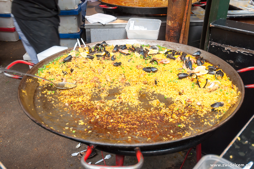 Londyn - London - Borough Market - paella