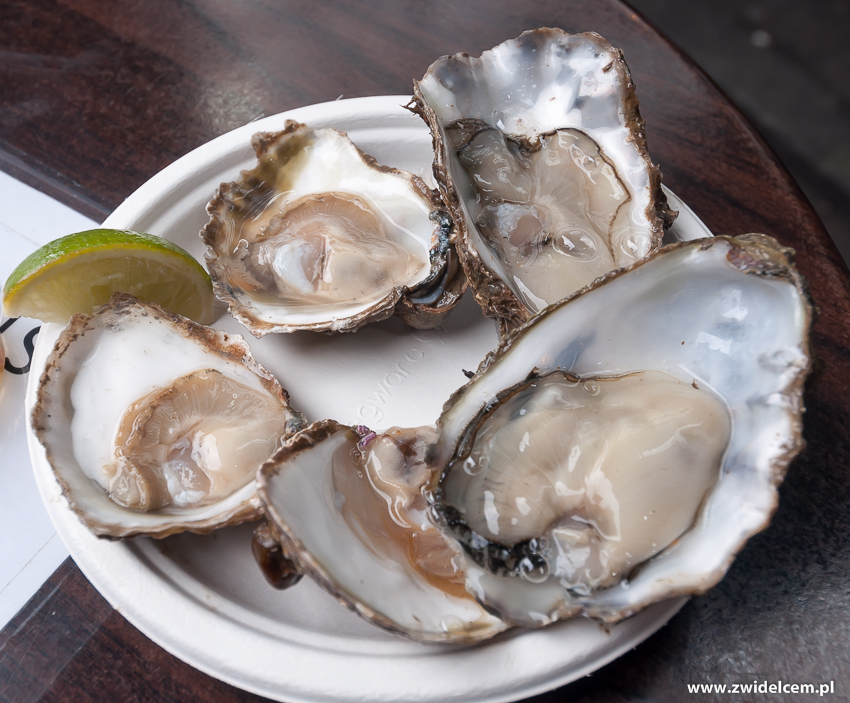 Londyn - London - Borough Market - ostrygi - Richard Haward's oysters