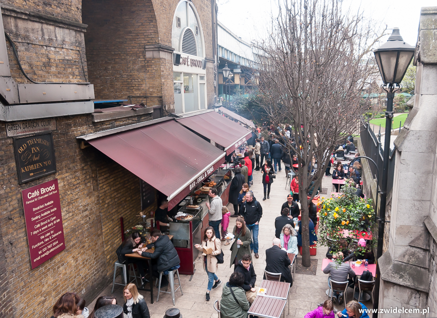 Londyn - London - Borough Market - z góry
