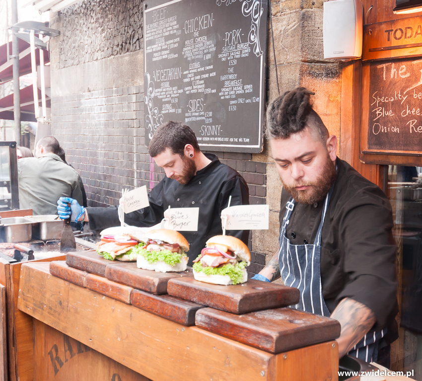 Londyn - London - Borough Market- burgers