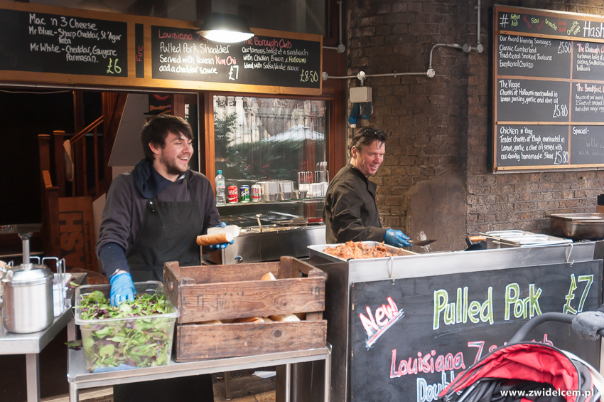 Londyn - London - Borough Market - Pulled pork