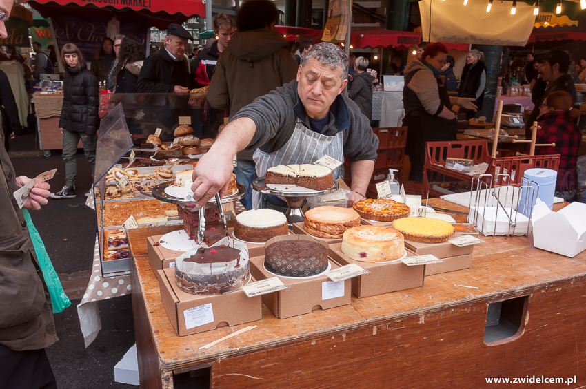 Londyn - London - Borough Market - ciasta - cakes