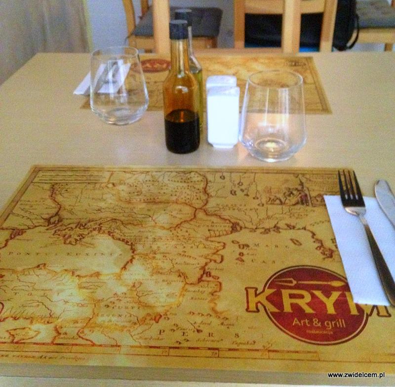 Kraków - Art&Grill Krym - nakrycie