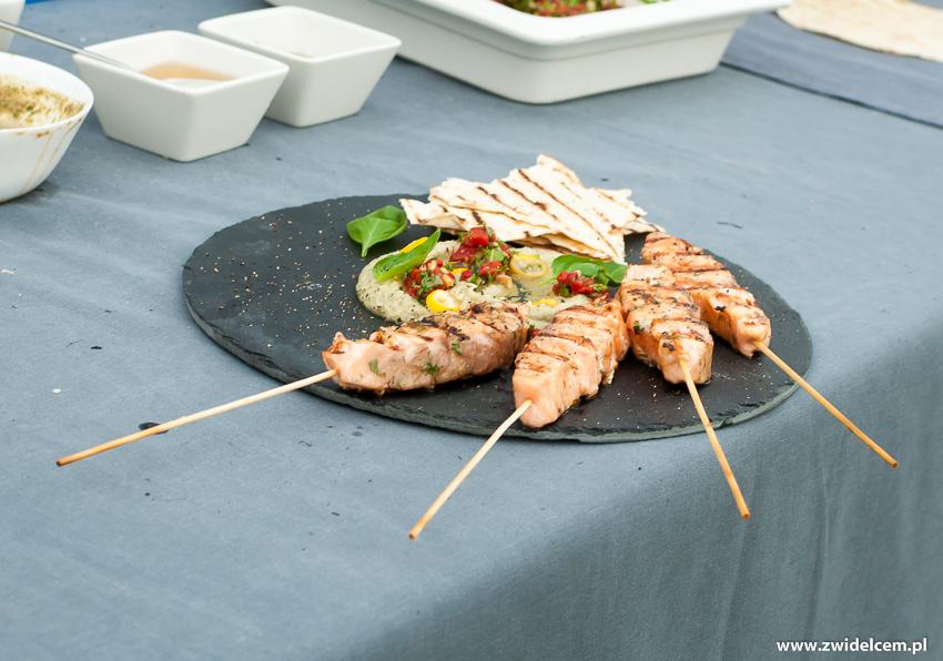 Ogrodzieniec - Poziom 511 Design Hotel & Spa - Pokaz kulinarny z Karolem Okrasą - szaszłyki-pasta z bakłażana